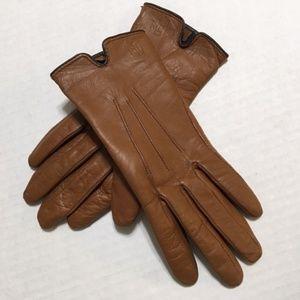 Ralph Lauren Soft Light Brown Leather Gloves S